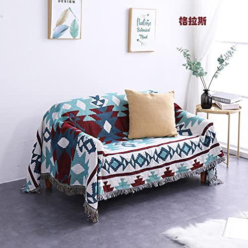 XITING Manta reclinable de algodón para sofá o cama, manta de punto cálida, para cama, hogar, salón, silla, cubre envolturas para recién nacidos