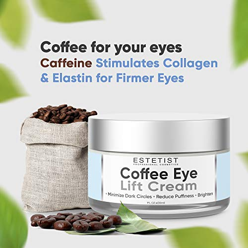 51Pa4dWE+zL - Caffeine Infused Coffee Eye Lift Cream - Reduces Puffiness, Brightens Dark Circles, Firms Under Eye Bags - Anti Aging, Wrinkle Fighting Skin Treatment