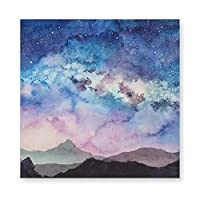 Milky-way-at-starry-sun-rise 木製 額縁 フォトフレーム 壁掛け 木製 横縦兼用 絵を含む 40×40cm