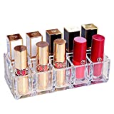 Lipsticks Holder Organizer 10 Spaces Makeup Lipgloss Storage Clear Display Stand Acrylic Cosmetic Vanity Holder
