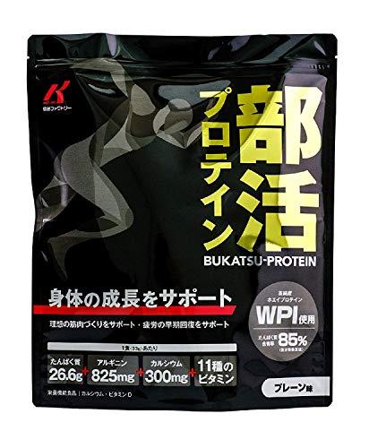 [健創ファクトリー]部活プロテイン (プレーン味 1kg) ホエイ/ジュニアプロテイン/WPI/国産 (人工甘味料不使用) (1個セット)