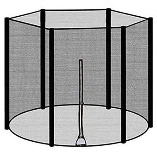 Asolym Red de Seguridad para Camas Elásticas de Jardín con Cremallera y Clip de Seguridad, Red de Seguridad para Camas Elásticas Ø 366 cm para 8 Postes, Resistente a los Rayos UV