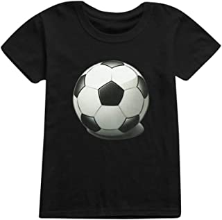 SMALLE Baby Girls Boys Football Soccer Print Casual T-Shirt Tops Shirts