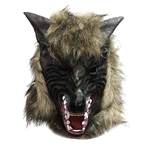 KIRALOVE Máscara - Lobo - Hombre Lobo - látex - Halloween - Carnaval - Disfraz - Accesorios - Hombre - Mujer - Unisex