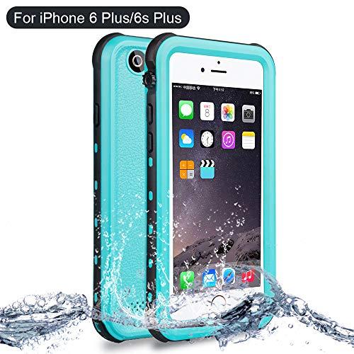 Custodia impermeabile iPhone 6/6s Plus, NewTsie Antiurto Cover IP68 Certificato Slim Subacquea Caso Full Protezione Custodia Protettiva per iPhone 6/6s Plus 5.5 inch (B-Blu)