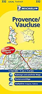 Michelin Localkarte Provence - Vaucluse 1 : 150 000