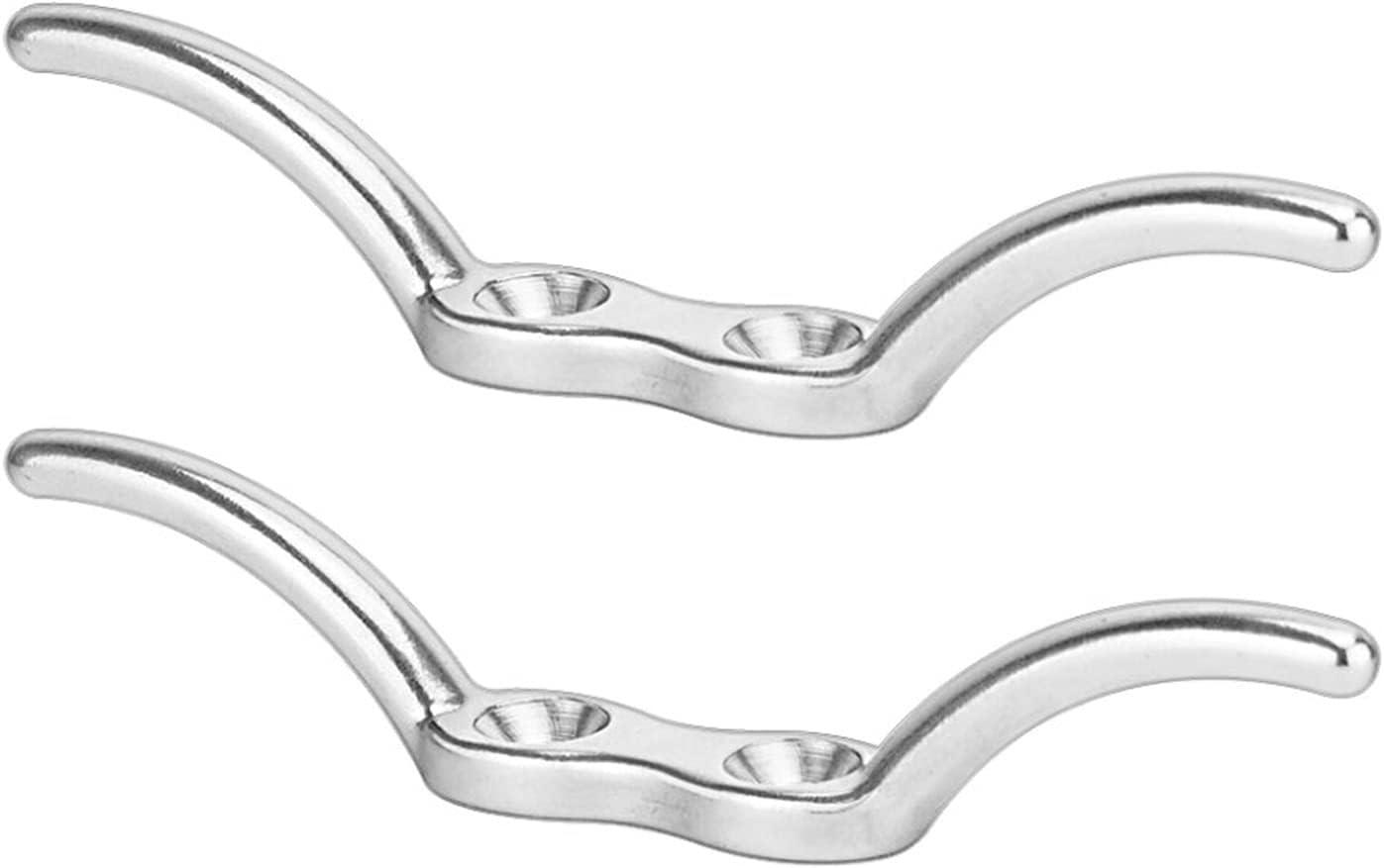 WDONGX Exquisite Door Handle 2PCS Stainless Steel Hook Cleat 316 Atlanta Mall Fresno Mall