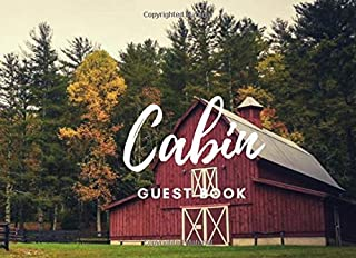 Cabin guest book: farm in countryside hut cover for vacation