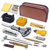 Kit de Reparación de Relojes, Sukudon169 pcs Herramientas de Reparación Profesional para Barra de Resorte, Kit de Herramientas de Reemplazo de la Batería del Relojo, Varios Accesorios, Nylon etc.