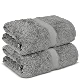 Chakir Turkish Linens Hotel & Spa Quality, Premium Cotton Turkish Towels (35''x70'' Jumbo Bath Towels - Gray)