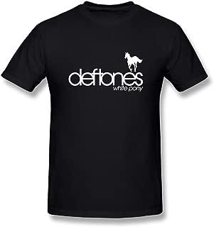 Loyd D Men's Cotton Deftones White Pony Tshirt Black