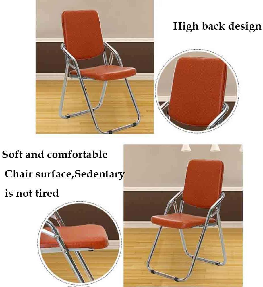 YCSD Chaise Pliante D'ordinateur De Chaise, Chaise De Dossier D'ordinateur De Réunion De Bureau, Coussin D'unité Centrale (Couleur : Brown) Brown