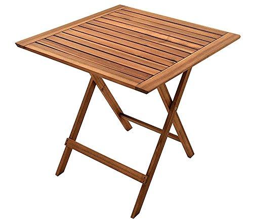 SAM Gartentisch 60x60 cm Blossom, klappbar, Akazien-Holz, für Balkon und Garten