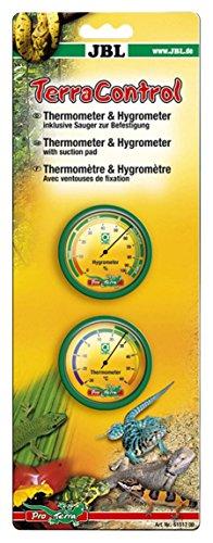 JBL Terra Control 61517 Thermometer und Hygrometer inkl. Sauger für Terrarien
