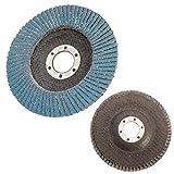NOLOGO Gxbld-yy 10pcs 60 Grit 115mm Premium Zirconia Flap Disco de Lija de Pulido 4-1/2