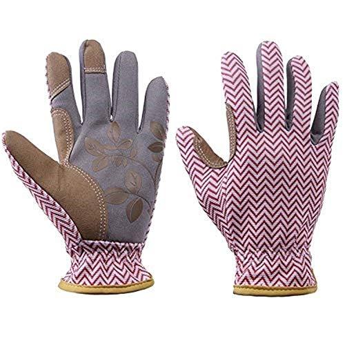 SGJFZD Guantes de jardín suaves para mujer, guantes de trabajo para jardinero Thichen, Rosa, Medium