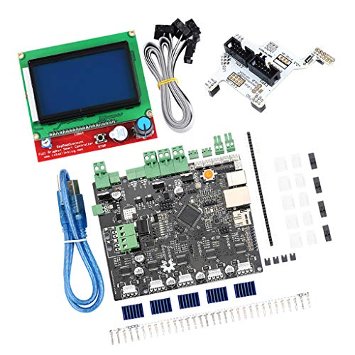 F Fityle 3D Printer Kits - Smoothieboard 5X V1.1 Open Source Mainboard + LCD 12864 Display + GLCD Adapter PlatePrinter Mainboard Part