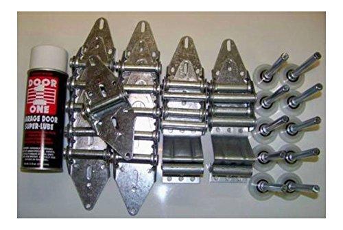 TOP! Garage Door Roller Wheel & Hinge KIT - Two car Door 16x7,18x7 - Heavy Duty Parts