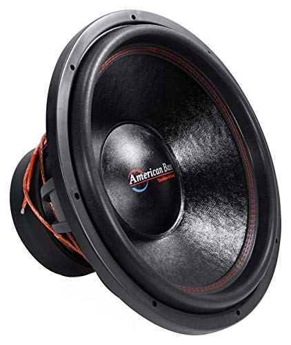 American Bass HD 18 D1 18 Inch Dual 1 Ohm Cast Basket Voice Coil 2000 Watt Subwoofer Speaker with 200 Ounce Magnet and Cooling Vents
