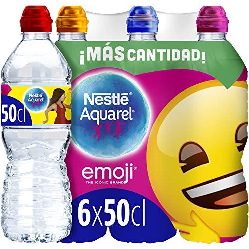 Agua Mineral Natural 50 Cl Tapón Sport Emoji - Pack De 6 Botellas