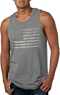 LUKYCILD American Vintage Flag Men Tank Tops Classic Patriot USA Stripes and Star Gift Vest