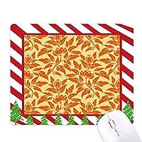 オレンジ色の金色の装飾的な古典的な花 ゴムクリスマスキャンディマウスパッド