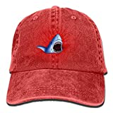 Funny Z Big Shark Mouth Creative Hombres Mujeres Gorra de Béisbol Ajustable Dad Hat