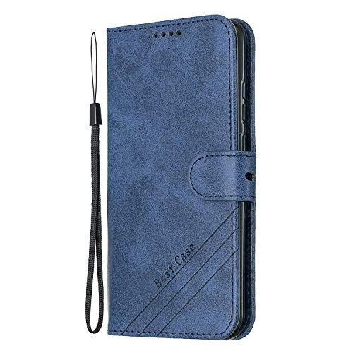 Hülle für Huawei P Smart 2019/Honor 10 Lite Hülle Handyhülle [Standfunktion] [Kartenfach] Schutzhülle lederhülle klapphülle für Huawei PSmart 2019 - DEHX010353 Blau