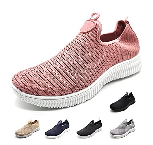 Zapatillas Deportivas para Mujer sin Cordones Muy Transpirables Rosa 38