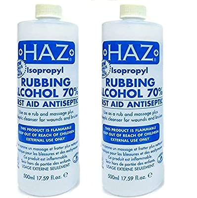 Haz 500 ml Isopropyl Rubbing Alcohol First Aid Anti Septic - Pack of 2 by Haz