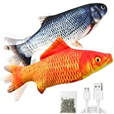 Senneny 2 Pack Electric Moving Fish Cat Toy,...
