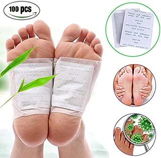 risingmed Natural 100parches detox Foot Pads Patch Detoxify Toxins alivio del dolor pies cuidado Relax atención de la salud cuerpo eliminar toxinas pérdida de peso reducir el estrés