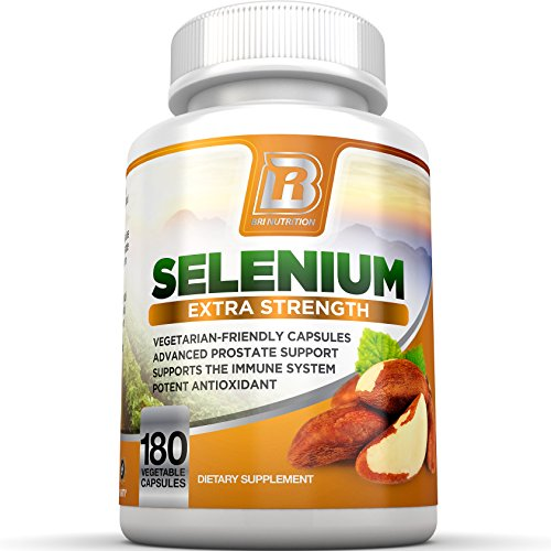 BRI Nutrition Selenium - Natural Antioxidant Supplements Helps to Fortify Immune System, Maintain Heart Health & Combat Free Radical Damage - 200mcg, 180...
