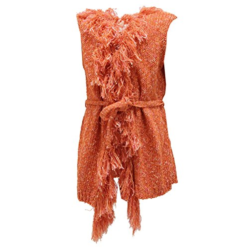 6763S gilet maglione smanicato MAURO GRIFONI bimba arancione jacket sweater kid [6 YEARS]