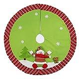 ZHongWei - Corona de Navidad Regalos de decoración de Navidad, Old Man Snowman Tree Skirt, Delantal Decoraciones de Navidad, Christmas Tree Dressing Props Arboles de Navidad (Color : B)