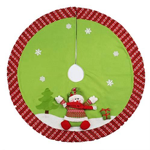 GYH Cadeaux de décoration de Noël, Vieil Homme Jupe Arbre de Bonhomme de Neige, Tablier décorations de Noël, Accessoires de Dressage Arbre de Noël /& (Couleur : B)