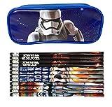 Mirage Star Wars Blue Pencil Case Pencil Pouch with 12 Pencils
