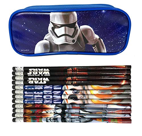 Mirage Star Wars Blue Pencil Case Pencil Pouch with 12 Pencils