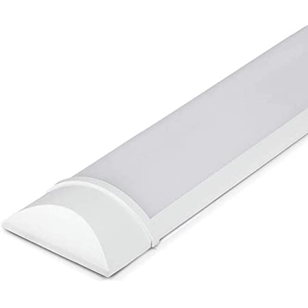 Patabit plafonnier led à plafond, 60 cm ,1400 lumens, lumière froide 6500 K, 220 V   Lampe en forme de barre led, néon slim pour mur   Lampe sous meuble led pour cuisine, atelier, garage