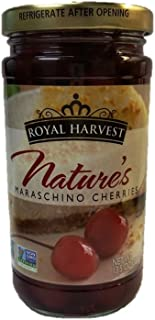 Royal Harvest Nature's Maraschino Cherries With Stems, 13.5 Ounce