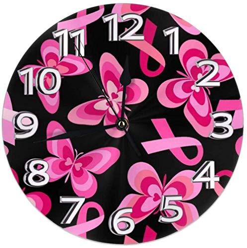 AZHOULIULIU Co.,ltd Decoración de Relojes de Escritorio de concienciación sobre el cáncer de Mama para la Personalidad de la guarida del Garaje precisa