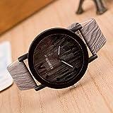 LULI Relojes de los Hombres Casual diseño único numerales Granulado Shell Negro Romano (Colour : 02)