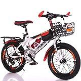 Vélo Enfant 18 Pouces VTT Enfant 6-14 Ans Vélo De Vitesse en Acier À Haute Teneur en Carbone Vélo Garçon Vélo Fille