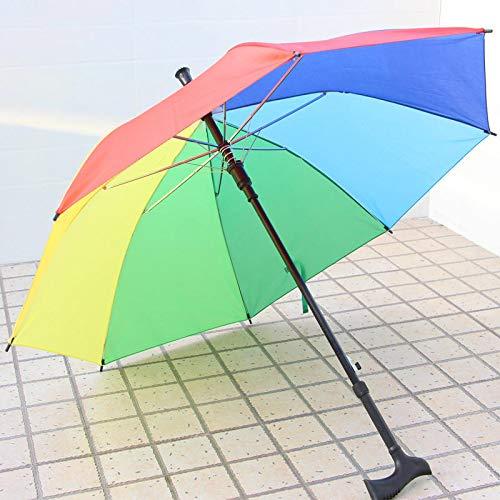 Yi-xir Komfortable Erfahrung Heben Walk Stick Regenschirm Alte Mann Sonnenschirm Bergsteigen Regen Krutsch Regenschirm Stahl Anti-Rutsche Klettern Regenschirm Kompakter Reiseschirm