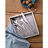 WMF Dune Besteckset 6 Personen, 30 teilig, Monobloc-Messer, Cromargan Edelstahl poliert, glänzend, spülmaschinengeeignet - 2