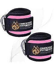 DMoose Fitness キックバック用のケーブルマシン用のアンクルストラップ、臀部トレーニング、レッグエクステンション、カール、股関節のアウトグダクタ(男性と女性用)、調節可能なネオプレンサポート