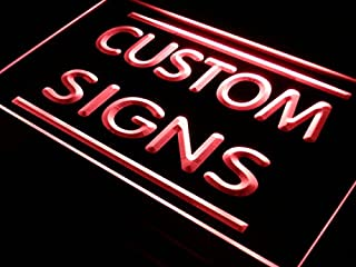 tm ADV PRO Custom Signs/LED Signs/Edge Lit Signs/Your Own Design (24x16 inches, Red)