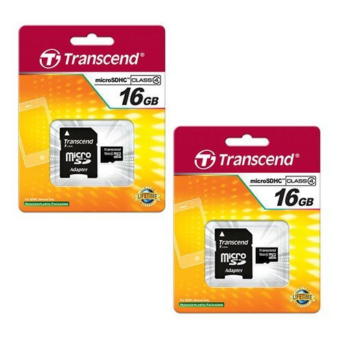 AEE AP10 Pro Quadcopter Drone Memory Card 2 x 16GB microSDHC Memory Card with SD Adapter (2 Pack)