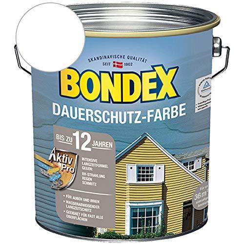 Bondex Dauerschutz-Holzfarbe Schneeweiß 4,00 l - 329892