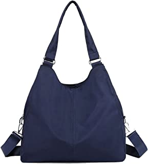 Hobo Shoulder Tote Bag, Women Waterproof Multi-function Roomy Handbag Cross-body Bag with Zipper